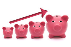 Banche Piggy Fotografia Stock Libera da Diritti