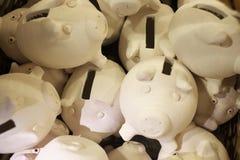 Banche Piggy, molte immagine stock