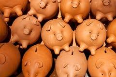 Banche Piggy, molte Fotografia Stock Libera da Diritti