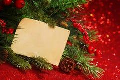 Banches da árvore de Natal Fotografia de Stock Royalty Free