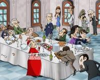 Banchetto bizzarro royalty illustrazione gratis