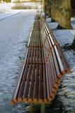 Banchi al parco di Vigeland Fotografie Stock