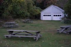 Banchi che costruiscono a Upstate New York fotografie stock libere da diritti