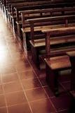 Banchi di chiesa Fotografia Stock