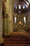 Banchi di chiesa che piombo all'alterazione Fotografia Stock