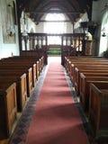 Banchi di chiesa della chiesa Fotografie Stock