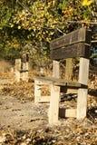 Banchi di legno Immagine Stock Libera da Diritti