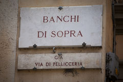 Banchi di Sopra in Siena Stock Photos