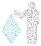 Banchiere Show Ethereum Vector Mesh Wire Frame Model royalty illustrazione gratis
