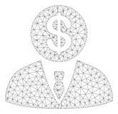 Banchiere Vector Mesh Wire Frame Model illustrazione di stock