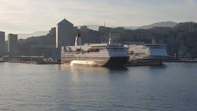 Banchina del porto di Genova - dell'Italia fotografia stock libera da diritti
