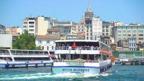 Banchina di Karakoy a Costantinopoli video d archivio