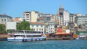 Banchina di Karakoy a Costantinopoli archivi video