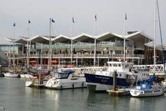 Banchine di Gunwharf a Portsmouth l'inghilterra Fotografie Stock