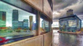 Banchine di Salford/città di media dal centro lowry Immagine Stock