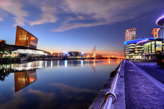 Banchine di Salford, Manchester, Regno Unito Fotografia Stock Libera da Diritti