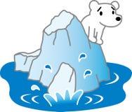 Banchisa ed orsi polari Fotografie Stock