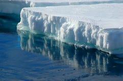 Banchisa galleggiante di ghiaccio di riflessione fotografia stock libera da diritti