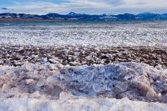 Banchise di Lage Laberge che vanno alla deriva il Yukon Canada Fotografie Stock Libere da Diritti