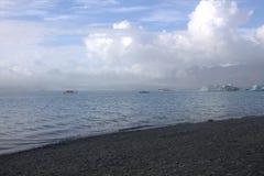 Banchise sulla laguna del ghiacciaio di Jolulsarlon del lago Fotografia Stock Libera da Diritti