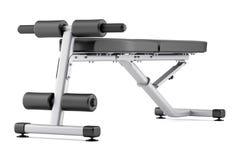 Banco ajustável do gym no branco ilustração stock