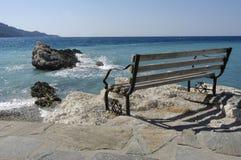 Banco al litorale Fotografie Stock