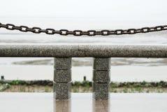 Banco alla spiaggia Fotografie Stock Libere da Diritti