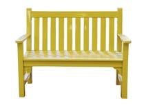 Banco amarillo imagen de archivo