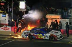 Banco Americano 10-11-14 # 33 no fogo Fotografia de Stock