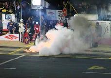 Banco Americano 10-11-14 Pit Fire Imagens de Stock