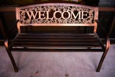 Banco bem-vindo Fotografia de Stock