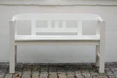 Banco blanco Imagen de archivo libre de regalías