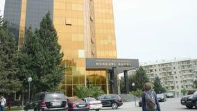 Banco central da república da sede central de Azerbaijão filme