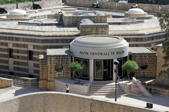 Banco central de Malta imagem de stock royalty free