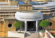 Banco central de Malta Fotografía de archivo