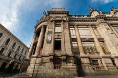 Banco central del país del ecuador, vieja arquitectura conmovedora Fotos de archivo