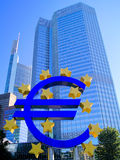 Banco Central Europeu Imagens de Stock Royalty Free