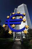 Banco Central Europeu Fotografia de Stock