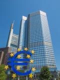 Banco Central Europeu em Francoforte foto de stock