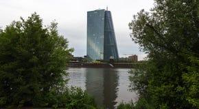 Banco Central Europeu novo em Francoforte Alemanha Imagem de Stock