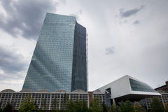 Banco Central Europeu novo em Francoforte Alemanha Imagens de Stock Royalty Free