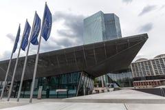Banco Central Europeu novo em Francoforte Alemanha Fotos de Stock