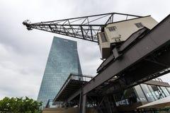 Banco Central Europeu novo em Francoforte Alemanha Imagens de Stock
