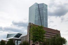 Banco Central Europeu novo em Francoforte Alemanha Imagem de Stock Royalty Free