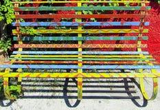 Banco colorido Fotos de Stock