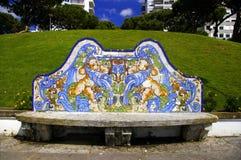 Banco con Azulejos Fotografia Stock Libera da Diritti