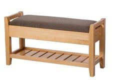 Banco con i sedili molli senza una parte posteriore Fotografia Stock