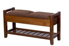 Banco con i sedili molli senza una parte posteriore Immagini Stock