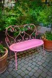 Banco cor-de-rosa Foto de Stock