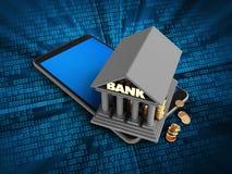 banco 3d Foto de Stock